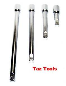 4pc 3 8 Drive 3 5 8 10 Long Ratchet Socket Extension Bar Set 3 8 Dr