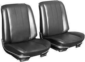 1967 Pontiac Gto Lemans Bucket Seat Covers Front Only Black