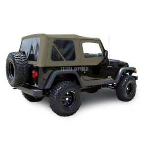 Jeep Wrangler Tj Soft Top Upper Doors 2003 2006 Parchment Sailcloth