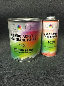 Hot Rod Black Gallon Kit Single Stage Acrylic Urethane Auto Paint Kit