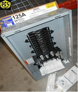 Nib Square D Qo324l125g 125 Amp Three Phase N1 Indoor Load Center 24 Ckt W cover