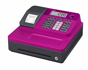 Casio Se g1sc pk Thermal Printing 8 Clerk Cash Register Pink Lcd Large Font