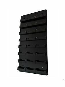 Lot Of 24 Black 24 Pocket Business Card Holder Black Acrylic Vertical Wall Mount