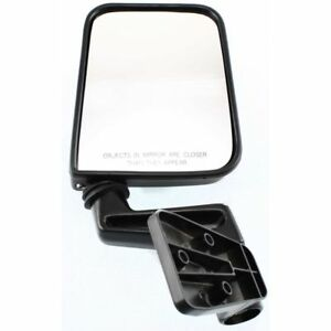 New Right Manual Door Mirror Black For 1987 1995 Jeep Wrangler Ch1321102