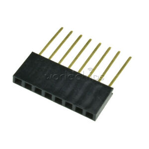10pcs 2 54mm Pitch 8 Pin Single Row Stackable Shield Female Header For Arduino