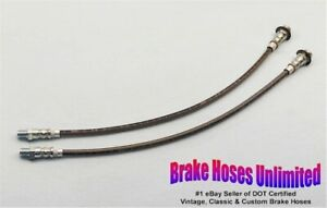 Stainless Front Brake Hoses Ford Car All Models 1939 1940 1941 1942