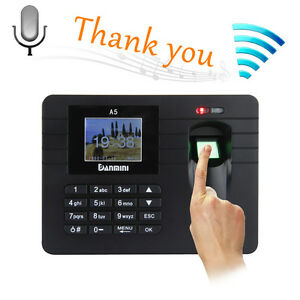A5 2 4 Tft Fingerprint Time Clock Attendance Clock Employee Payroll Recorder Us