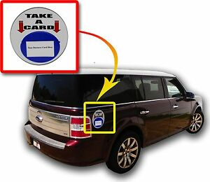 Lot Of 12 Blue Magnetic Card Caddie Vehicle Outdoor Business Card Holder