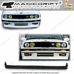 84 92 Bmw E30 3 series Lower Valance V2 Is M tech Style Front Bumper Lip Spoiler