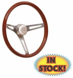 Gtp 36 5457 Gt 3 Retro Steering Wheel With Satin Slot Spoke Light Wood