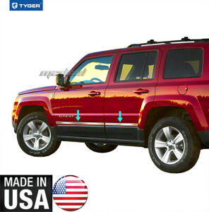 Tyger Fits 07 2015 Jeep Patriot Lower Accent Body Side Molding Trim 1 Wide 4pc