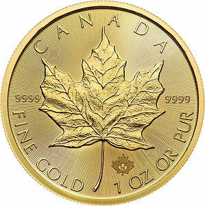 2015 1oz Gold Canadian Maple Leaf