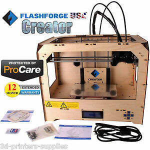 Flashforge Usa 3d Printer Creator Abs pla With 1 Year Extend Warranty Deluxe Kit