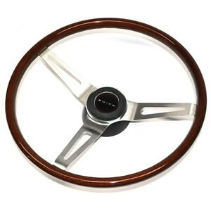 1969 72 Buick Walnut Wood Steering Wheel Kit 3 Spoke Brushed Kit W Buick Cap