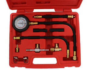 Abn Universal Fuel Injection Pressure Test Kit W Improved Flex Hoses Fittings
