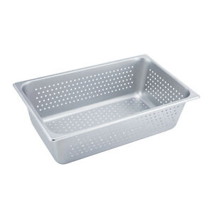 Winco Spfp6 6 inch Deep Full size Stainless Steel Perforated Steam Table Pan