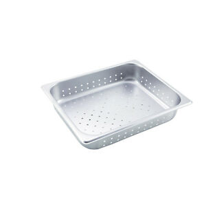 Winco Sphp2 2 5 inch Deep Half size Stainless Steel Perforated Steam Table Pan