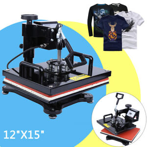 Digital Transfer Sublimation T shirt Heat Press Machine 15 X 12 Swing Away