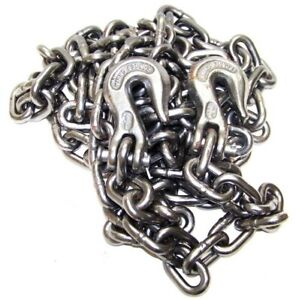 3 8 X 20ft H D Tow Chain With Hooks Towing Pulling Secure Truck Cargo Chains