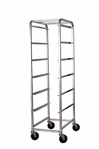 Winco Abbc 6 Aluminum Bus Box Cart With 6 Tiers