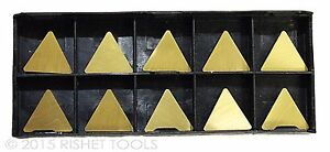 Rishet Tools Tpg 322 C5 Multi Layer Tin Coated Carbide Inserts 10 Pcs