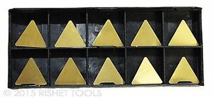 Rishet Tools Tpg 322 C5 Multi Layer Tin Coated Carbide Inserts 10 Pack