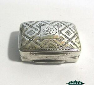 George Iii Sterling Silver Vinaigrette Box By Cocks Bettridge Birmingham 1816