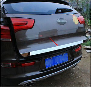 Stainless Rear Tailgate Door Trunk Lid Cover Trim For Kia Sportage R 2011 2015