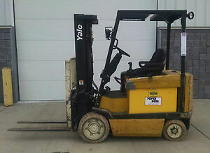 Yale Model Erc060zfn 6000lbs Capacity No Mark Wheel Electric Battery Forklift