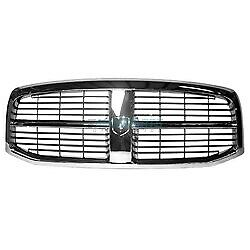 New Front Grille Chrome Black Fits 2006 2009 Dodge Ram 1500 Ch1200282