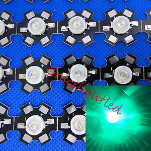 50pcs 3w Cyan High Power Led Lamp Bead 490nm 495nm With 20mm Star Base For Diy