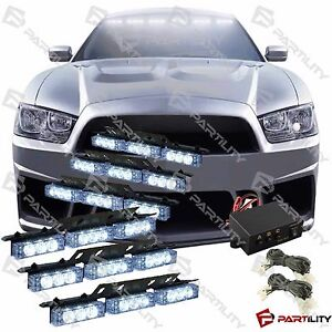 54 White Led Emergency Truck Strobe Flash Light Warning Grill Dash Front Rear