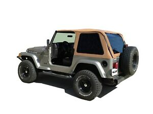 Rampage 109517 Frameless Soft Top Kit Spice 1997 2006 Jeep Tj Wrangler