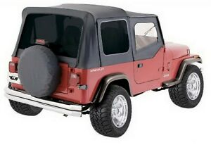 Rampage 99415 Replacement Black Soft Top W Door Skins 88 95 Jeep Yj Wrangler