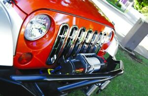 Rampage 7511 Chrome Snap In Grille Inserts 1997 2006 Jeep Tj Wrangler