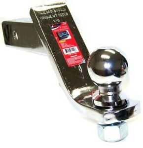 4 Chrome Drop Hitch Receiver Trailer Ball Mount 2 Receiver With 2 Ball