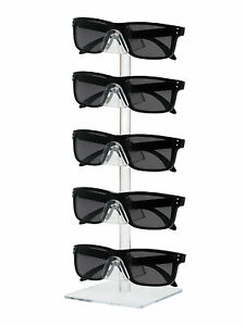 Lot Of 24 Acrylic 5 Tier Sunglasses Eyeglasses Square Counter Display Stand