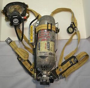 Refurb Scott 4 5 Scba Wireframe Firefighter Air Pak 1992 Ed pack Mask Cylinder