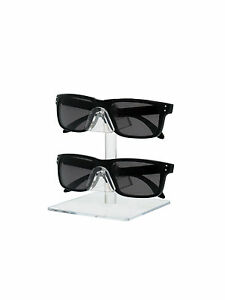 Lot Of 24 Acrylic 2 Tier Sunglasses Eyeglasses Square Counter Display Stand