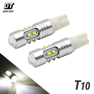 2x T10 High Power 50 Watts Cree Led White Backup Reverse Light Bulbs Projector