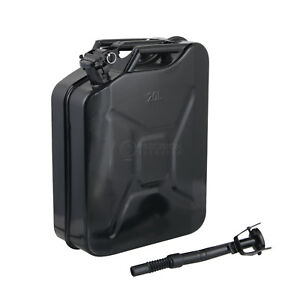 Jerry Can 20l Liter 5 Gallon Gal Backup Steel Tank Fuel Gas Gasoline Black