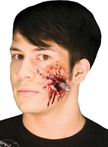 Morris Costumes Realistic Movie Style Make Up Bullet Head Kit. CSEZ157