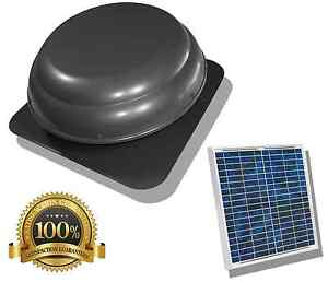 Solar Attic Gable Fan Vent Office Warehouse Garage Pull Heat Out Of Building