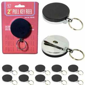 Lot 10 Id Badge Holder Retractable Reel 2 Key Clip Nurse Name Card Wholesale
