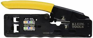 Klein Tools Vdv226 107 Compact Ratcheting Modular Crimper