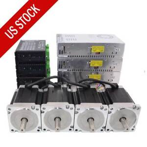 Us Ship 4 Axis Cnc Kit 1204oz in Nema 34 Stepper Motor Dm860i Driver Cnc Mill