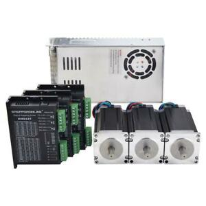 4 Axis Cnc Kit 3 1nm 439oz in Nema 24 Stepper Motor Driver Power Supply