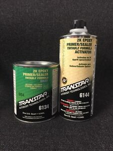 Transtar 2k Epoxy Primer Sealer Gray Tra 6134 6144 quart Kit