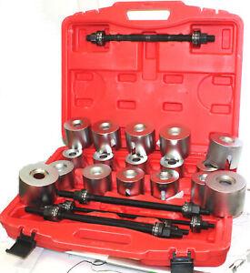27pc Master Universal Press Pull Sleeve Kit Bush Bearing Removal Insertion Tool