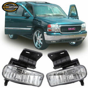 Fits 99 06 Silverado Suburban Tahoe Escalade Oe Fog Lights Clear